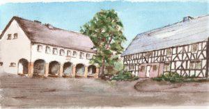 Die beiden Gemeindehäuser von Giesenhausen